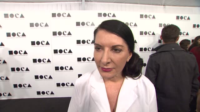 marina abramovic on how she feels serving as the artistic director for this years gala what people can expect from her perfomance how debbie harry... - los angeles museum of contemporary art stock videos and b-roll footage