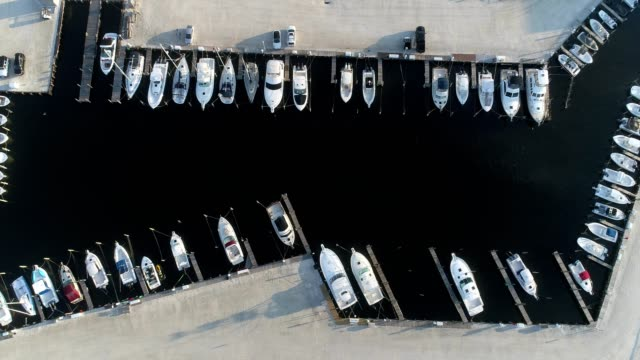 marina and docked boats, seaside park new jersey - cars parked in a row stock videos & royalty-free footage