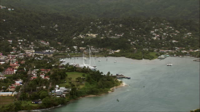 aerial, marina and holiday resort, jamaica - jamaica stock videos and b-roll footage
