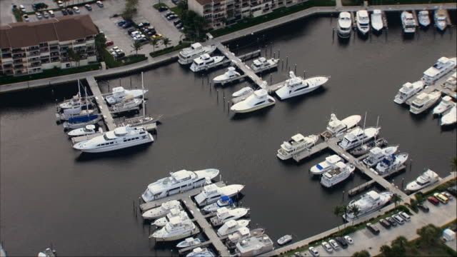 AERIAL, Marina and residential district, Miami, Florida, USA