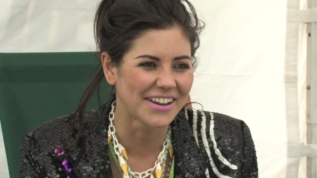 marina and the diamonds on her style and how she wants to be known for her music at the marina and the diamonds interview - ben and jerry's sundae on... - サンデー点の映像素材/bロール