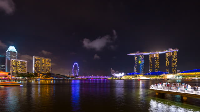 TL WS Marina Bay and Singapore Skyline at night
