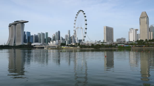 marina bay sands hotel and singapore flyer, singapore, southeast asia, asia - marina bay sands stock videos and b-roll footage