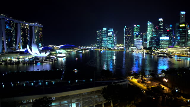 marina bay sands hotel resort art science museum - marina bay singapore stock videos and b-roll footage