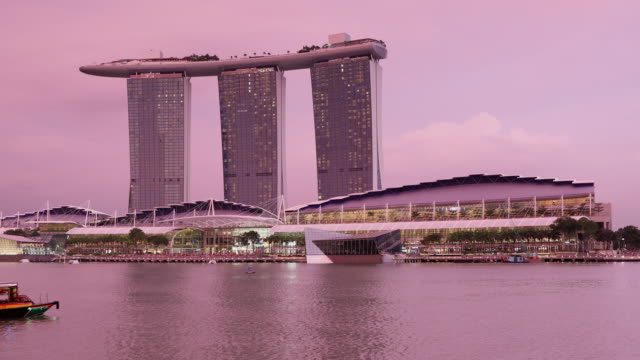 marina bay sands hotel, singapore, southeast asia, asia - marina bay sands stock videos and b-roll footage