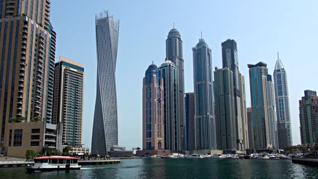 marina - dubai, uae - lockdown viewpoint stock videos & royalty-free footage