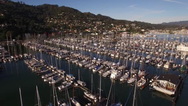 Marina fly over, Marina San Francisco, Aerial, 4K, Stock Video Sale - Drone Discoveries llc -Drone Aerial video California Coast with bridges, marina, boats and Kayaking, 4K Transportation