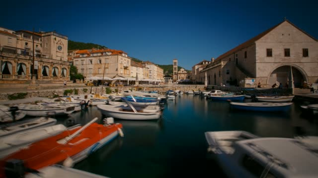 Marina in the city of Hvar, Croatia