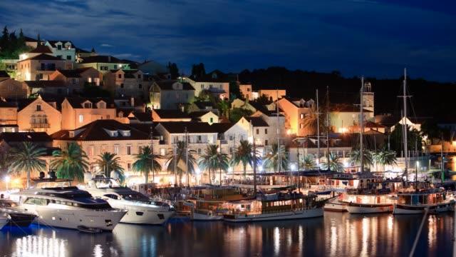 Marina in the city of Hvar, Croatia