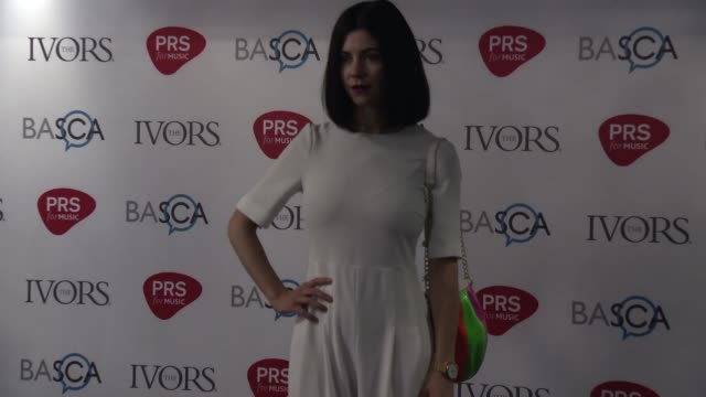 marina lambrini diamandis at the 61st ivor novello awards on may 19, 2016 in london, england. - b roll点の映像素材/bロール
