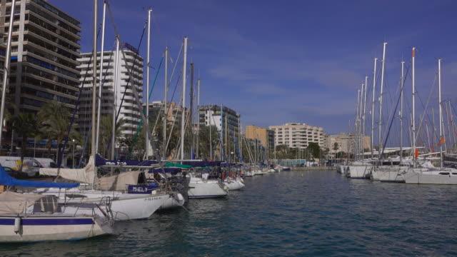marina port de palma, palma de mallorca, majorca, balearic islands, spain - marina stock videos & royalty-free footage
