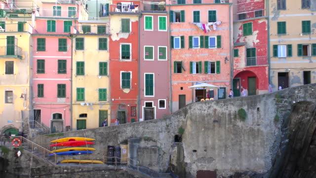marina - riomaggiore, italy - cinque terre stock videos and b-roll footage