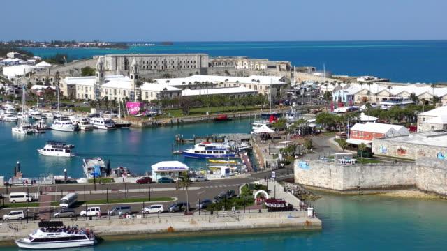 marina - royal naval dockyard, bermuda - bermuda stock videos & royalty-free footage