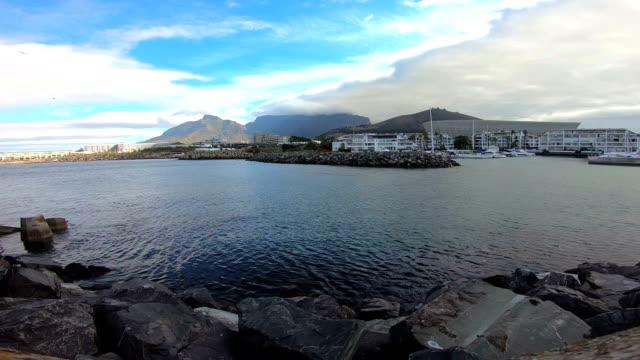vídeos de stock e filmes b-roll de marina - montanha da mesa áfrica do sul