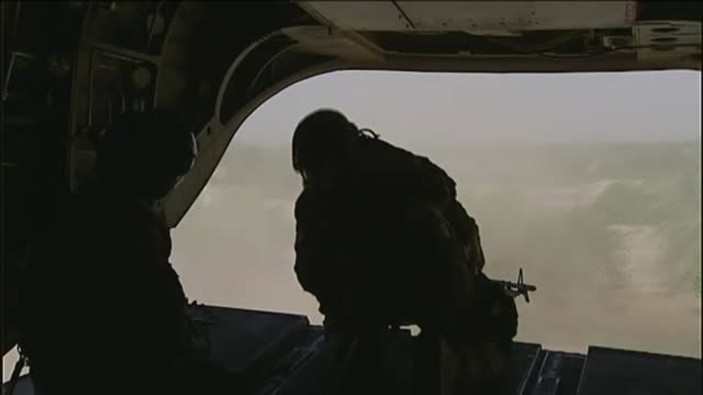 'marine a' refused bail following rehearing of trial t27071133 / tx afghanistan helmand province nahresaraj district int back view british soldier at... - helicopter rotors stock videos and b-roll footage