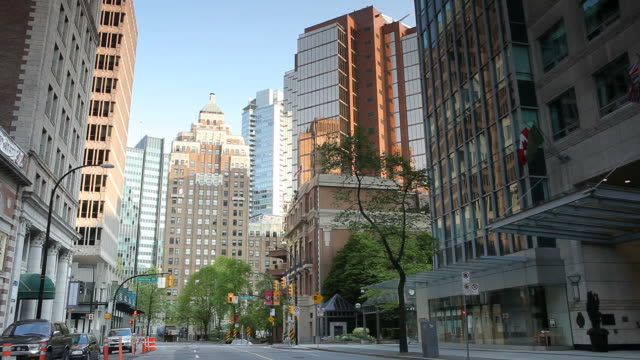 marine building vancouver downtown - vancouver canada stock videos and b-roll footage