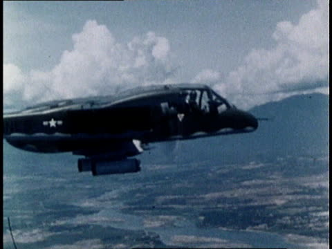 marine calling in air support via radio / support aircraft approaching / new marine aircraft, ov10a bronco, flying above vietnam - one teenage boy only stock videos & royalty-free footage