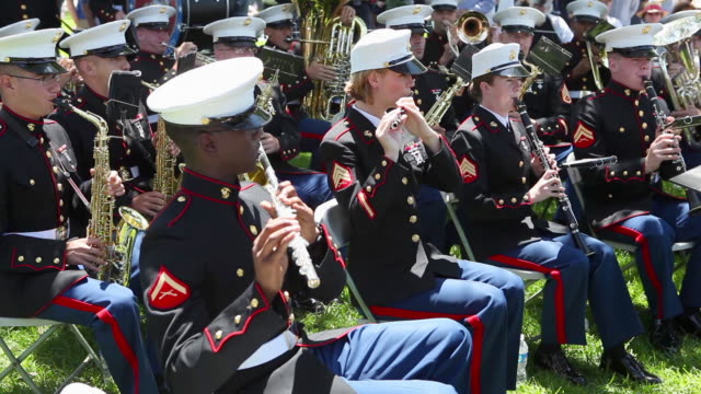 Marine Corp Band on Memorial Day