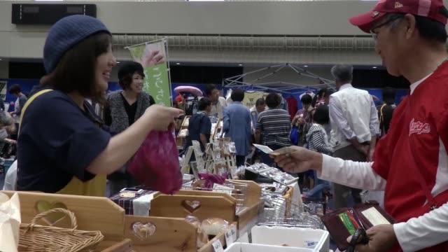 us marine corp special events hosts iwakuni friendship flea market yamaguchi japan - transfer stock videos and b-roll footage