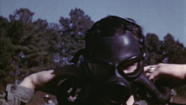 marine corps combat corpsman recruits undergoing gas mask and tear gas training / camp lejeune, north carolina, united states - tear gas stock videos & royalty-free footage