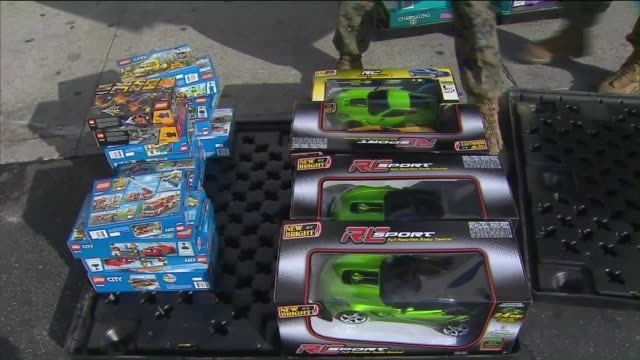 s marine corps reserve toys for tots - us marine corps stock videos & royalty-free footage