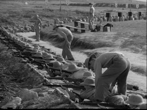 US Marine Corps Rifle Range and Gun Training