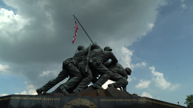 us marine corps war memorial - us marine corps stock videos & royalty-free footage