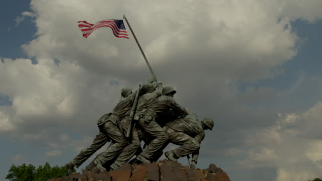 us marine corps war memorial - arlington virginia stock videos & royalty-free footage