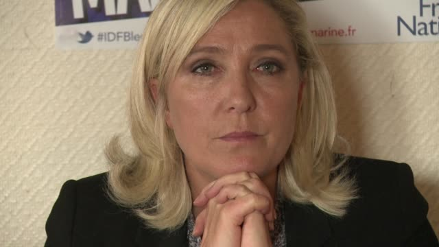 marine le pen the leader of france's farright national front has been ordered to stand trial in october on charges of inciting racial hatred after... - legal occupation stock videos and b-roll footage