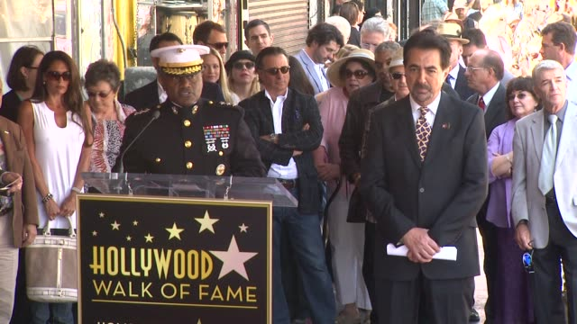 Marine Lt General Willie Williams and Joe Mantegna at the Joe Mantegna Honored with a Star on the Hollywood Walk of Fame at Hollywood CA