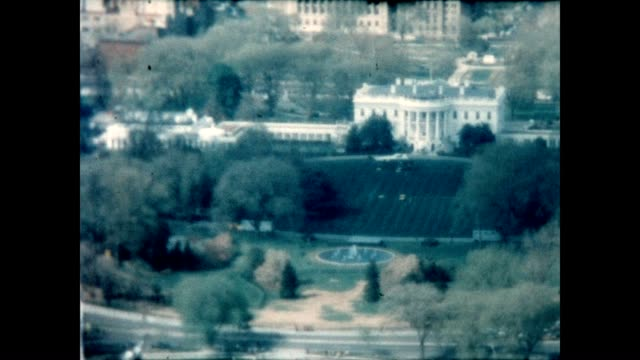 marine one takes off from the white house, as seen from washington monument. - capital cities stock videos & royalty-free footage