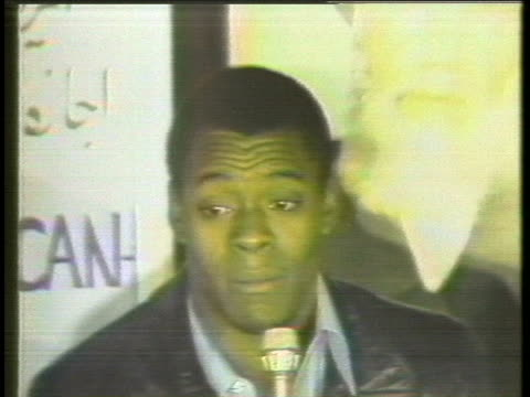 marine sgt. william quarles, a former iranian hostage, speaks at a press conference after his release. - 1979 stock videos & royalty-free footage