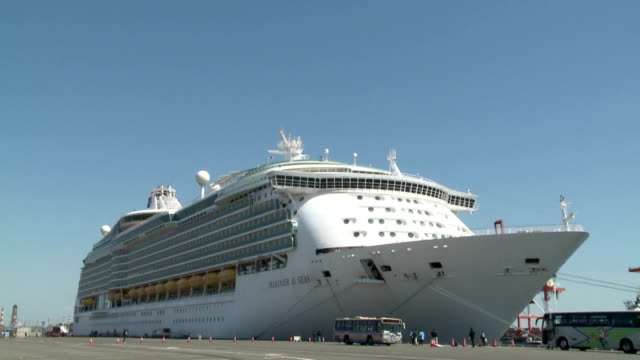 Mariner of the Seas one of largest Asiabased cruising ship arrived at port of Yokohama south of Tokyo for the first time on Wednesday March 25 The...