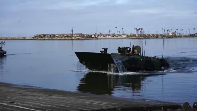 US Marines Amphibious Combat Vehicle demonstrates its abilities at Camp Pendleton California The old tracked Amphibious Assault Vehicle will...