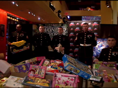 US Marines and Toys For Tots at the 'Mr Magorium's Wonder Emporium' Toys for Tots Record Breaking WeighIn at Planet HollywoodTimes Square in New York...