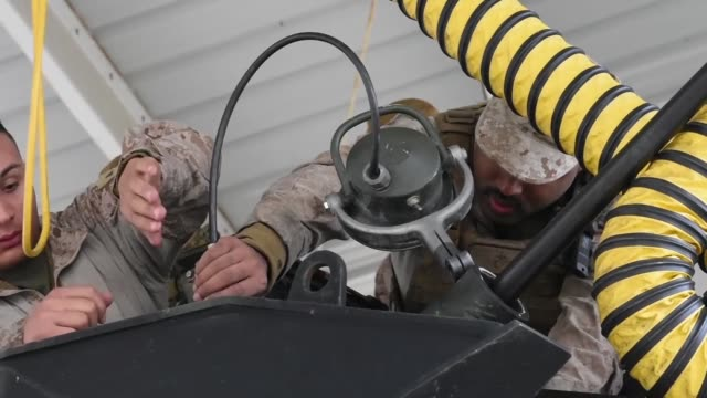 marines assigned to 4th marine division, prepare to conduct water recovery scenarios in the chesapeake bay during a training exercise at joint... - amphibious vehicle stock videos & royalty-free footage
