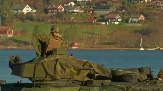 marines conduct an amphibious landing exercise during trident juncture 18 in alvund, norway october 30, 2018. - amphibious vehicle stock videos & royalty-free footage