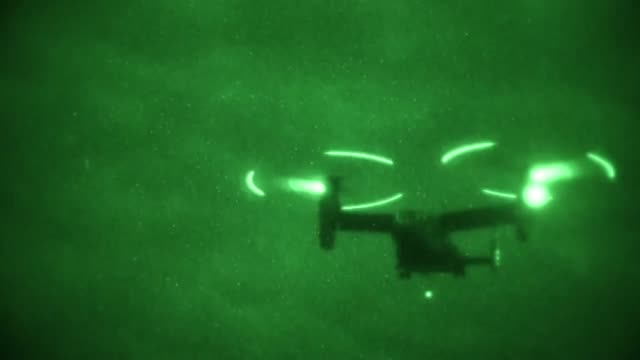 us marines conduct hoist operations at camp hansen okinawa japan 15 january 2019 - night vision stock videos and b-roll footage