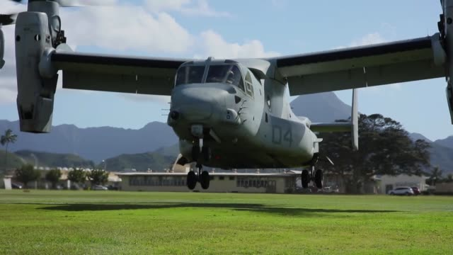 marines conduct simulated tactical recovery of aircraft personnel and a combat search and rescue scenario training aboard marine corps base hawaii... - abheben aktivität stock-videos und b-roll-filmmaterial