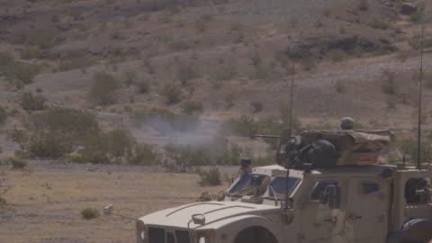 marines convoy on a main supply route during a motorized operators course as part of integrated training exercise 5-19 at marine corps air ground... - armoured vehicle stock videos & royalty-free footage