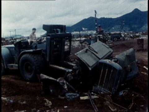 marines destroy enemy fortifications in khe sanh / south vietnam - fortress stock videos & royalty-free footage