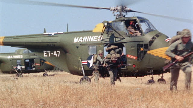 ms marines disembarking from plane and take-off running - war stock videos & royalty-free footage