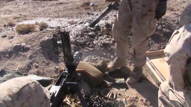 marines firing the m2 .50 caliber machine gun as well as taking a class on the m240 machine gun during javelin thrust - gun barrel stock videos & royalty-free footage