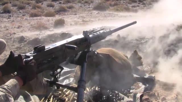 marines firing the m2 .50 caliber machine gun as well as taking a class on the m240 machine gun during javelin thrust - machine gun stock videos & royalty-free footage