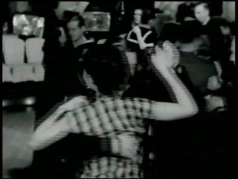 marines, navy sailors dancing w/ women, band bg. sailor dancing w/ chinese woman . sailors walking through doors. sailors talking around table,... - 1942 stock videos & royalty-free footage