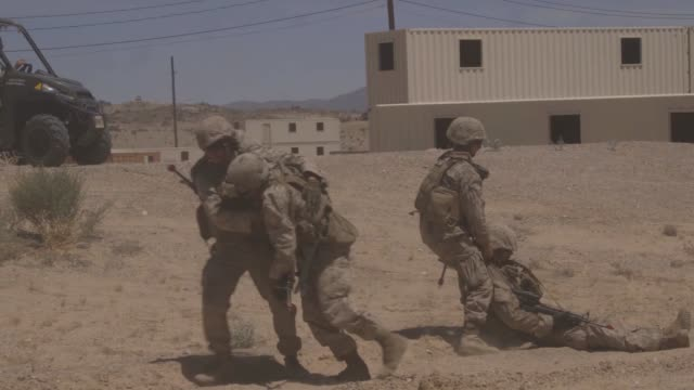 US Marines participate in urban motor transportation operations lane training as part of Integrated Training Exercise 519 at Marine Corps Air Ground...