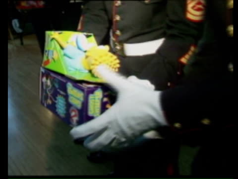 marines passing bart simpson doll on november 12, 1992 in chicago, illinois - television show stock videos & royalty-free footage