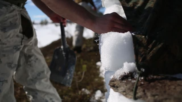 US Marines prepare for coldweather survival training in Setermoen Norway May 5 2019