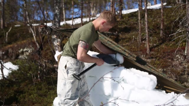 us marines prepare for coldweather survival training in setermoen norway may 5 2019 - igloo stock videos & royalty-free footage