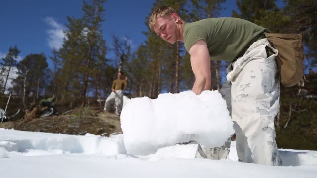 us marines prepare for coldweather survival training in setermoen norway may 5 2019 - scientific imaging technique stock videos & royalty-free footage